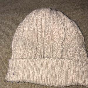 cute knitted fluffy beanie
